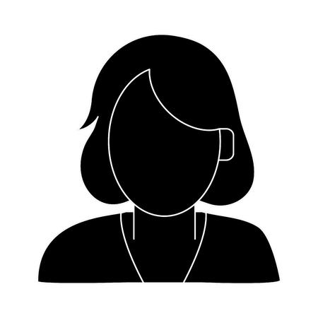 Executive woman faceless avatar icon vector illustration graphic design icon vector illustration graphic design Illustration