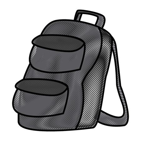School backpack symbol icon vector illustration graphic design