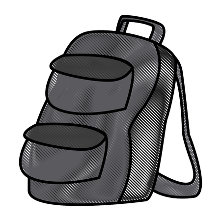 School backpack symbol icon vector illustration graphic design