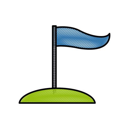 Flag pennant symbol icon vector illustration graphic design Illustration