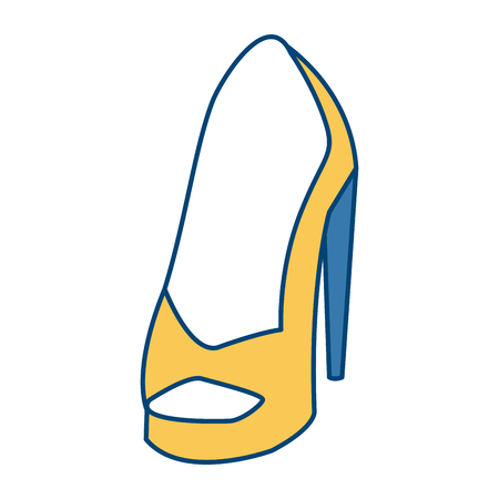 Womens fashion heel icon vector illustration graphic design Illustration
