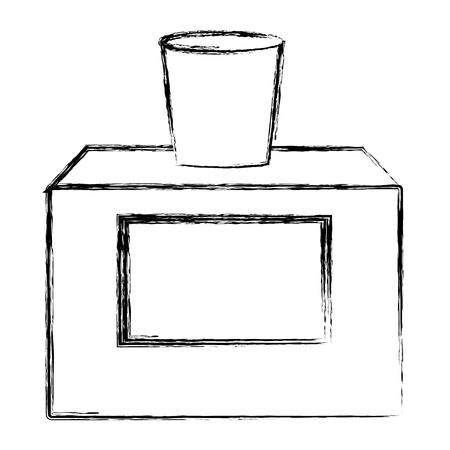 Women fragrance bottle icon vector illustration graphic design Illustration