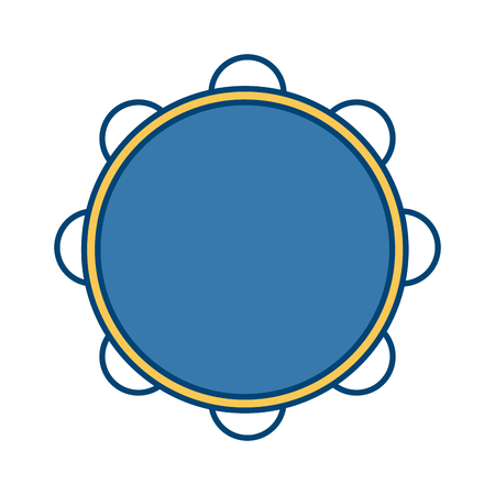 Tambourine music instrument icon vector illustration graphic design icon vector illustration graphic design