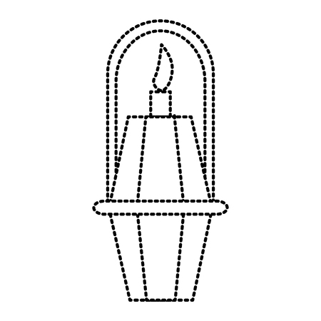 Paper lamp isolated icon vector illustration graphic design