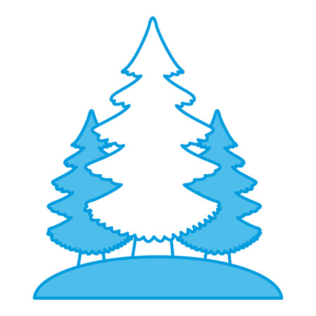 Trees pines isolated icon vector illustration graphic design Illustration