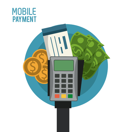 Mobile payment technology icon vector illustration graphic design