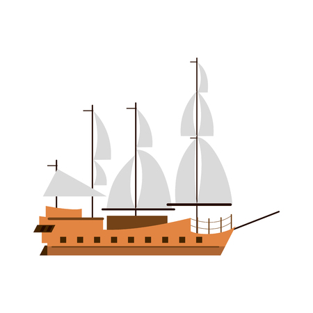 Old ship boat icon vector illustration graphic design Illustration