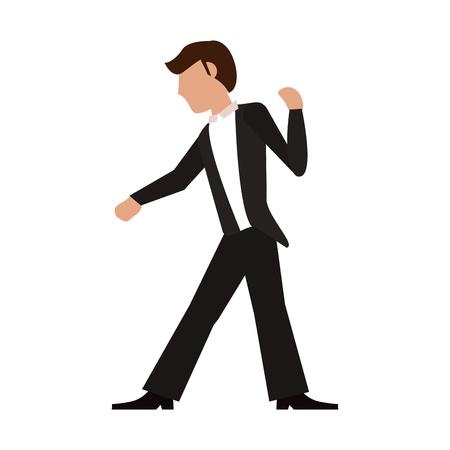 Fiance with suit cartoon icon vector illustration graphic design Illustration
