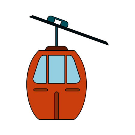 Cableway mountain transport icon vector illustration graphic design