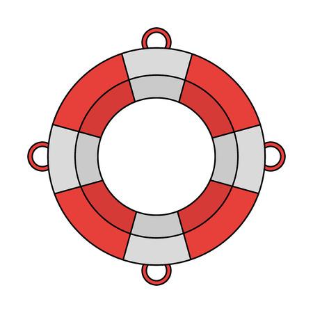 Lifesaver boat symbol icon vector illustration graphic design