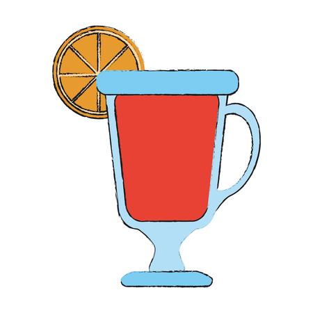 Delicious cocktail cup icon vector illustration graphic design