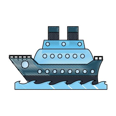 Luxury ship icon vector illustration graphic design
