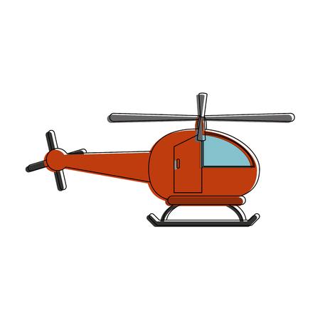 Helicopter aviation aircraft icon vector illustration graphic design Ilustração