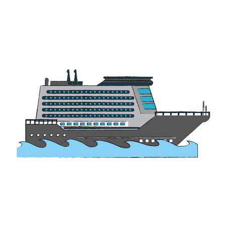 Luxury cruise ship icon vector illustration graphic design