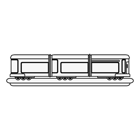 train carriage isolated icon vector illustration graphic design Ilustrace