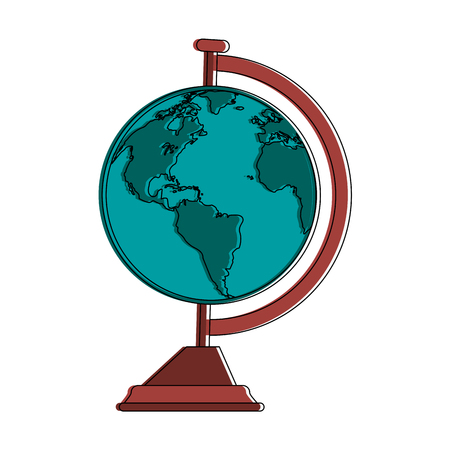 学校世界世界のアイコン ベクトル イラスト グラフィック デザイン