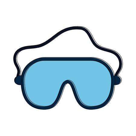 Ski goggles  equipment icon vector illustration graphic design