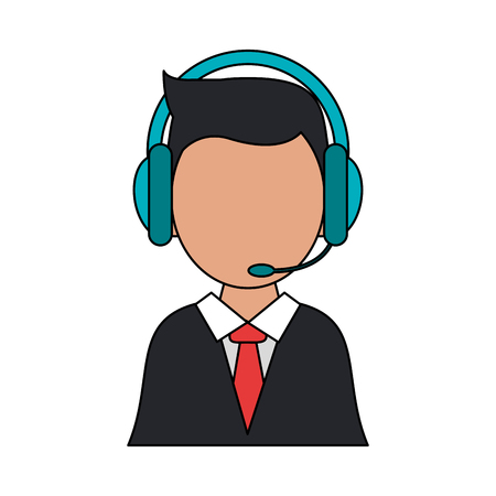 Call center agent symbol icon vector illustration graphic design