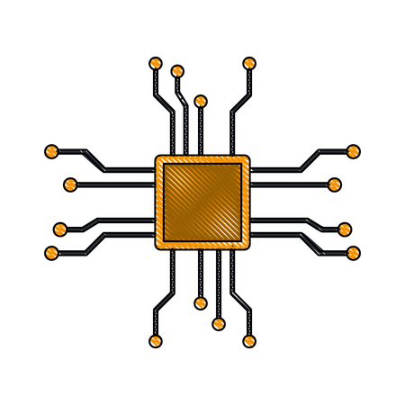 Microchip technology symbol icon vector illustration graphic design Illustration