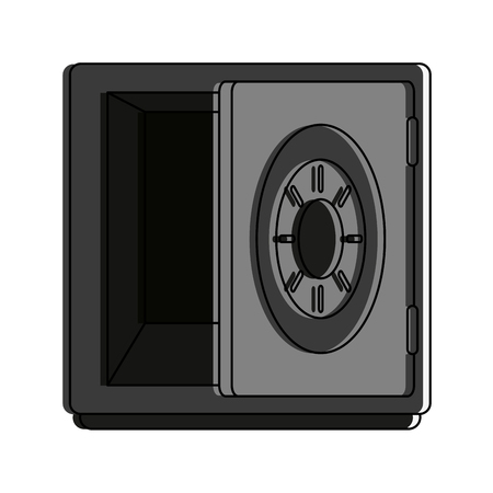 Strongbox security device icon vector illustration graphic design