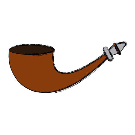 Old tobacco pipe icon vector illustration graphic design Illustration