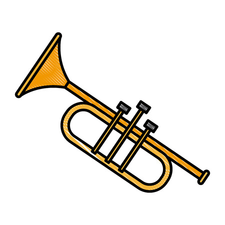 Trumpet music instrument icon vector illustration graphic design