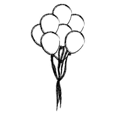 Balloons celebration symbol icon vector illustration graphic design