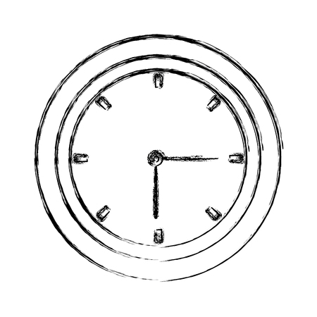 Wall clock isolated icon vector illustration graphic design.