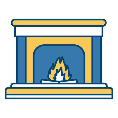 Home chimney construction icon vector illustration graphic design Illustration