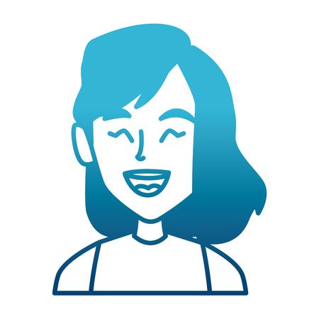 Beautiful smiling woman vector illustration Illustration