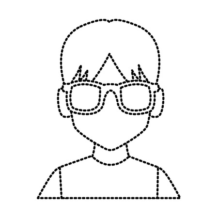 Geek man with glasses icon vector illustration graphic design