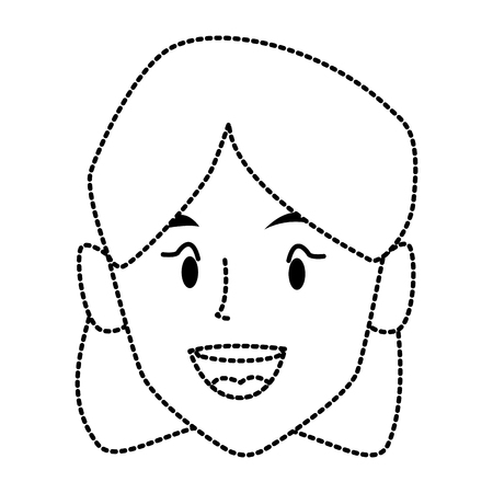 beautiful woman smiling face icon vector illustration graphic design
