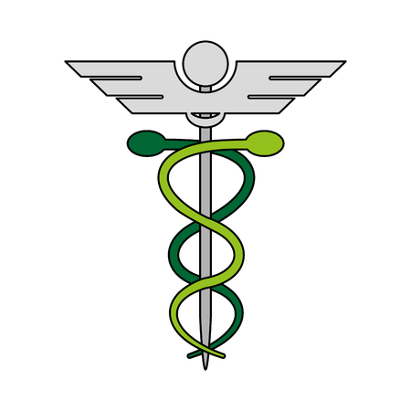 Caduceus medical symbol icon vector illustration graphic design