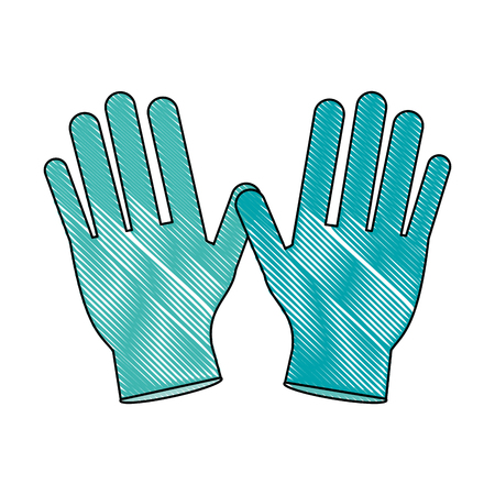 Medical gloves isolated icon vector illustration graphic design