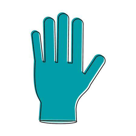 Medical glove isolated icon vector illustration graphic design