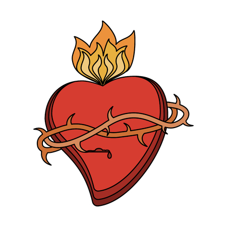 Sacred heart catholic symbol icon vector illustration graphic design