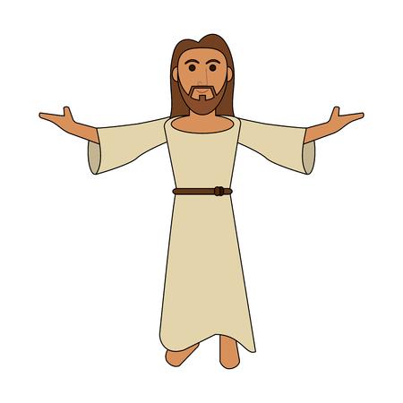 Jesuschrist 귀여운 만화 아이콘 벡터 일러스트 그래픽 디자인