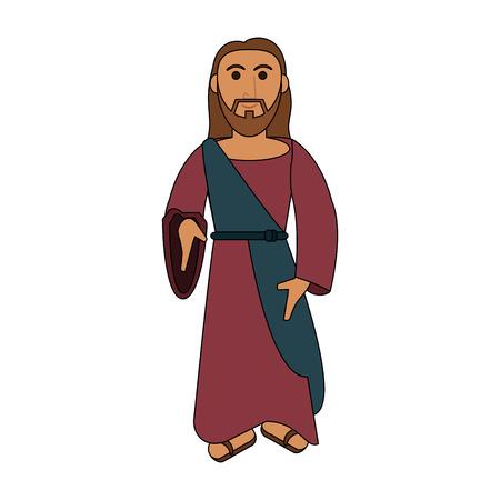 Jesuschrist cute cartoon icon vector illustration graphic design