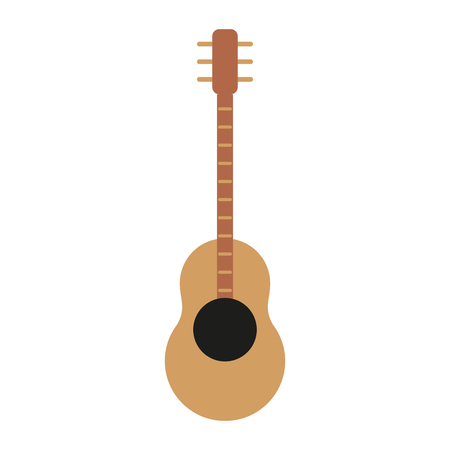 Acoustic guitar instrument icon vector illustration graphic design