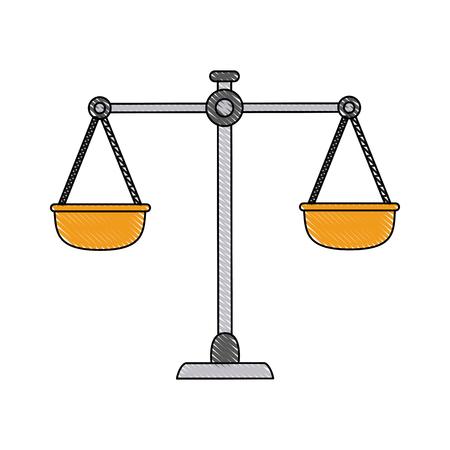 Antique balance symbol icon vector illustration graphic design Illustration