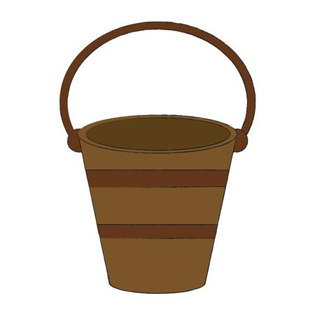 Empty old bucket icon vector illustration, graphic design.