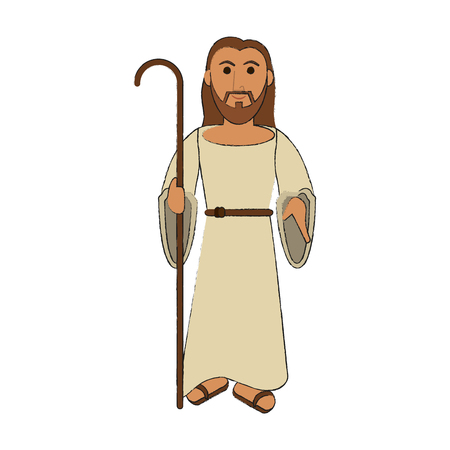 Conception de dessin animé mignon Jesuschrist vector illustration design graphique
