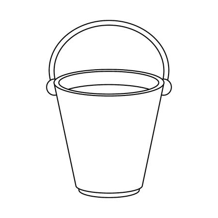 Empty old bucket icon vector illustration graphic design Reklamní fotografie - 91333695
