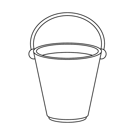 Empty old bucket icon vector illustration graphic design