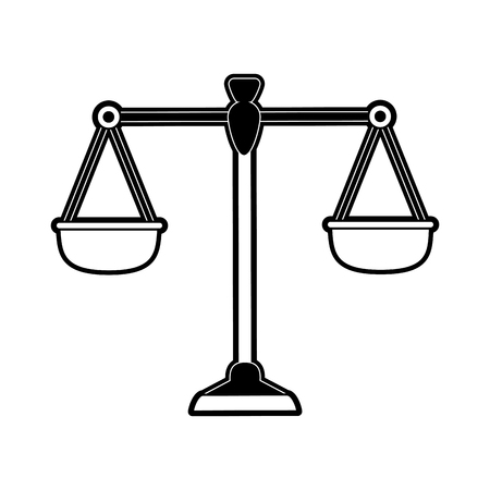 Antique justice scale symbol icon vector illustration graphic design Illustration