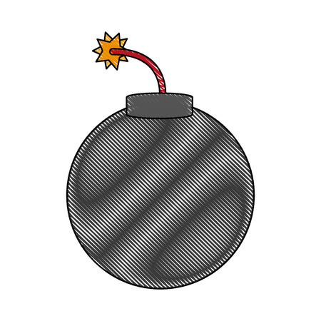 Classic round bomb icon vector illustration graphic design Illustration