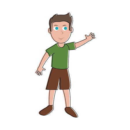 Cute boy cartoon icon vector illustration graphic design Illustration