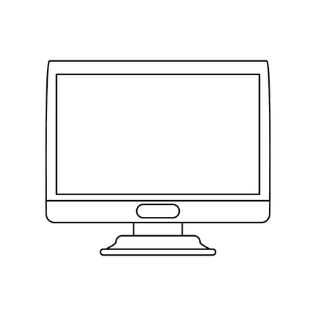 Computer screen monitor icon vector illustration graphic design Illusztráció