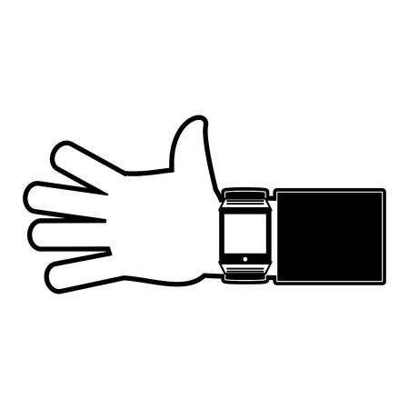 Smartwatch wearable technology icon vector illustration graphic design Illusztráció