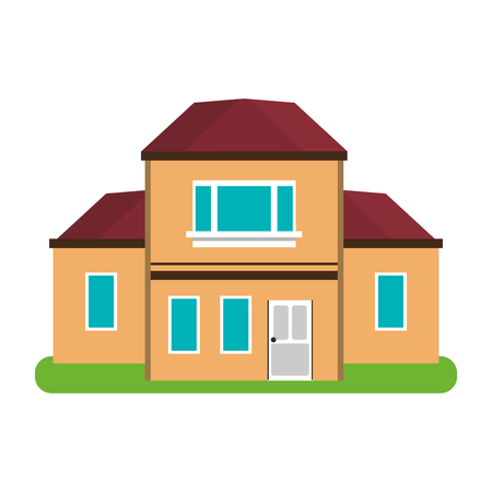House real estate icon vector illustration graphic design